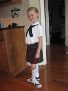 Tanner dressed for a recital 2 weeks before diagnosis